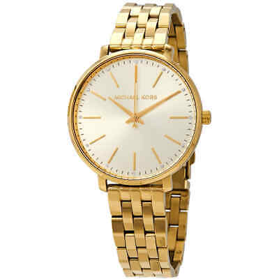 6760fdbf01e3 MICHAEL KORS PYPER Crystal Yellow Gold-tone Dial Ladies Watch MK3898 ...