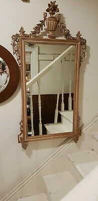 Carved Limed Mirror Decorative French Louis Wooden Provincial