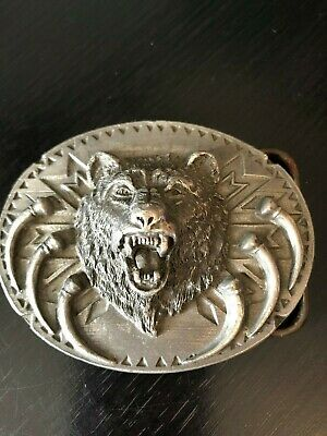 Angry Bear Belt Buckle Siskiyou 1991 Dimensional and Detailed