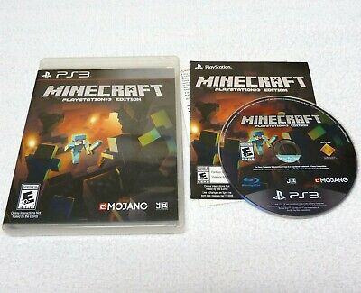 Minecraft PlayStation 3 Edition (Sony PlayStation 3, 2014) Complete, Works Great