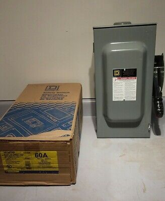 Heavy duty electric safety switch on/off 60 amp, 600 volt, ac