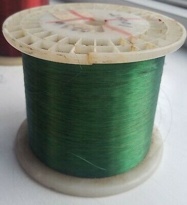 Green Enamel Coated Magnet Wire 36 AWG - 4.40 lbs Spool