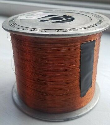 Enameled Copper Magnet Wire 30 AWG - 6.20 lbs, Vintage Aluminum Spool