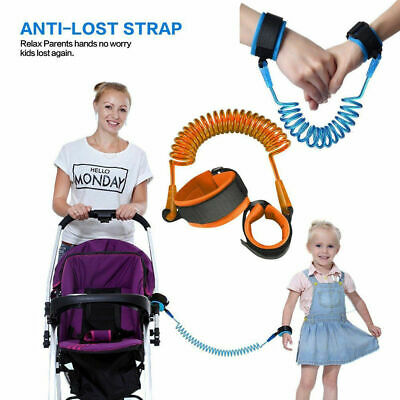 Anti-Lost Toddlers Baby Kid Safety Harness Strap Wrist Band Walking Leash Q6X8N