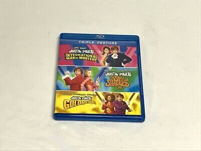Austin Powers Triple Feature Complete Blu-Ray DVD Lot FREE MEDIA SHIPPING