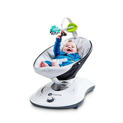4Moms RockaRoo Infant Baby Compact Gliding Motion Swing Glider Classic Grey NEW