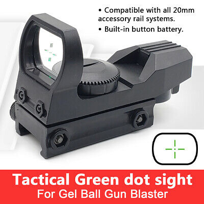 Gel ball blaster Parts Green Dot HD Sight Scope for About 20mm Width Rail