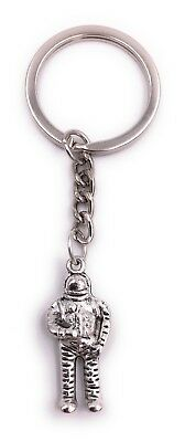 Astronaut Universe Key Ring Silver Pendant Made of Metal