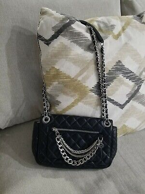 46e3f47bd603ef Brand New MICHAEL KORS Quilted Leather Cheyenne MD Shoulder Purse Flap Bag  Black