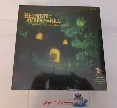 New * Betrayal At House On The Hill Board Game (2nd Edition) 3-6 Players 1 Hour