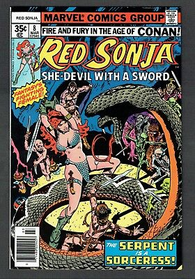 Red Sonja #8 Marvel Comics Bronze 1977 NM- She Devil with a Sword & Age of Conan