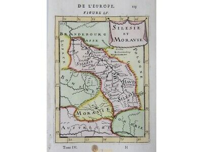 Silesie et Moravie old map Silesia and Moravia Mallet 1683