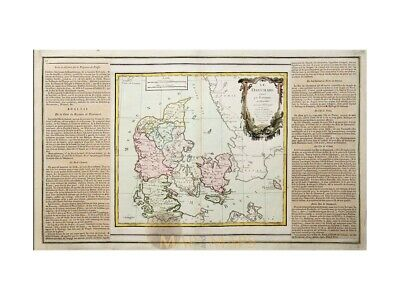 Denmark Antique Map Le Danemark by La Tour 1766