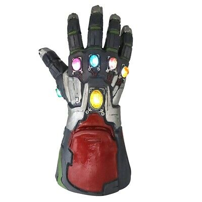 Avengers Endgame Infinity Gauntlet LED Gloves Iron Man Tony Stark Cosplay Props