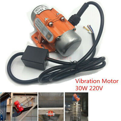 Vibration Motor 30W AC 220V 1phase 3600rpm for Vibrating Sieve Feeder Hopper