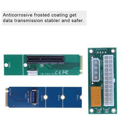 NGFF M.2 to USB 3.0 Card+NGFF to PCI-e 4X Card+ATX 24Pin to Molex 4P  Cable