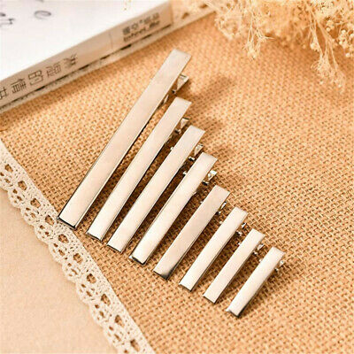 Pack of (x20) Blank Metal Crocodile Alligator Hair Clips Accessories Many Size