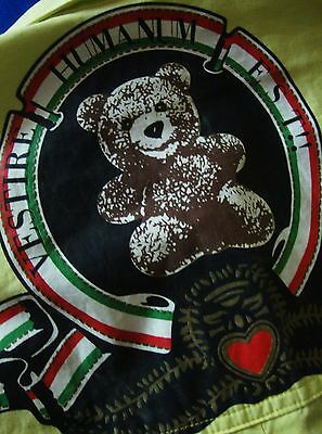 """SHIRT woman vintage 90's woman MOSCHINO JEANS """"Bear""""  made in Italy TG.S  Rare"""