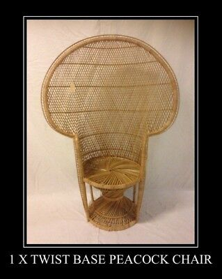 Natural Twist Base Wicker Peacock Chair-High Back-Seating,Any room indoor