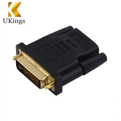 DVI Male to HDMI Female adapter Gold-Plated M F Converter For HDTV LCD