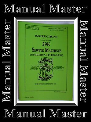 Singer 29k Sewing Machine Service Instructions Manual Booklet