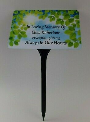 Personalised Memorial Plaque Pet Grave Marker Name Stake In Loving Memory Garden