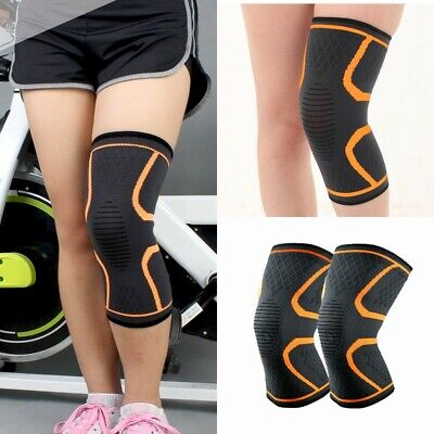 2pcs Copper Knee Support Brace Sleeve Elastic Compression Pain Relief Gym Sport