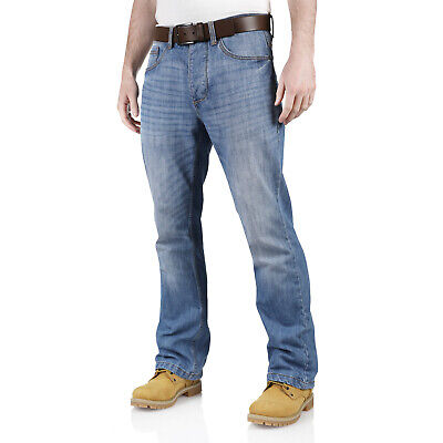 New Mens Jeans Straight Leg Regular Fit Heavy Duty Cotton Basic Denim Work Pants