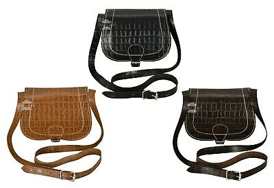 Ladies Girls Small Cross Body Bag Over Shoulder Messenger Bag Real Leather 1410