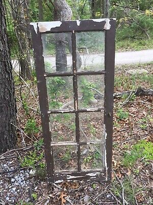 "Old Wood Cottage Casement Window Sash With Glass - 18"" X 42"""