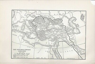 Map of The Ottoman Empire 1683-1800