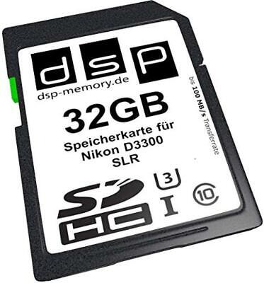 (TG. 32GB Ultra Highspeed) DSP SDHC Ultra FOR Nikon D3300 - NUOVO
