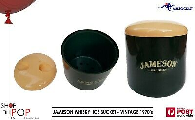 JAMESON WHISKY VINTAGE PLASTIC ICE BUCKET EX' CON' MADE IN UK 1970's MAN CAVE