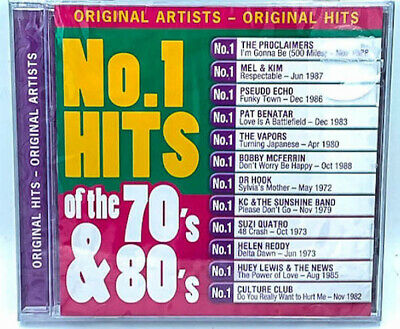 No. 1 Hots of the 70s & 80s BRAND NEW SEALED MUSIC ALBUM CD - AU STOCK