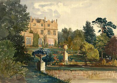 Maresfield Park, Sussex - Original late 19th-century watercolour painting