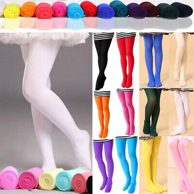 a2f1975bff6e5 UK Girls Kids Tights Opaque Pantyhose Ballet Dance Socks Stocking Age 4-12  100D