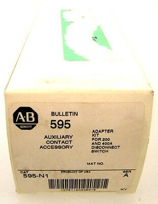 New Allen Bradley 595-N1 /A Auxiliary Contact Adapter Kit