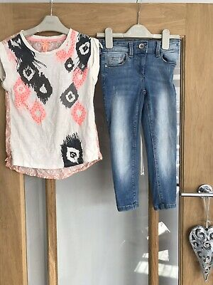 Next Girls Outfit Age 6 Years - Top & Skinny Jeans