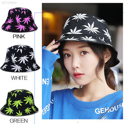 931A Maple Leaf Bucket Hats Ultraviolet Adults Sun Travel Fisherman Hat