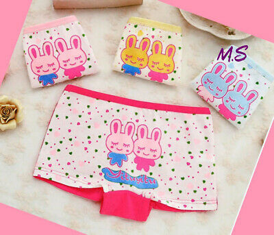 4 Pack Girls Boxer Shorts Underwear Briefs Cotton Knickers Age 2 4 5 6 7 8 9 Yrs
