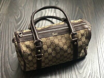 f9754e6a7d7ac1 Authentic Vintage GUCCI Doctor Boston Bag Speedy Purse Satchel Handbag GG  Logo