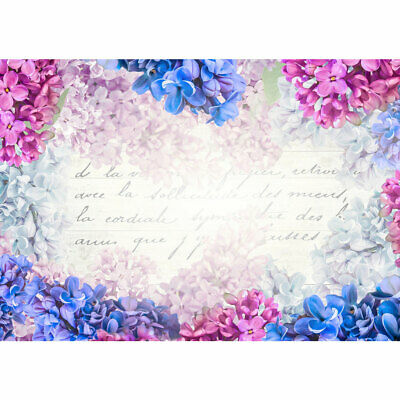 Photo Wall Paper Watercolour Flowers Font Kunst Typography Liwwing No. 1343