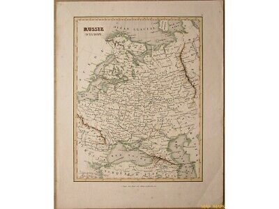 Russia Europe, Early antique map Russie d'Europe Monin Fleming 1838