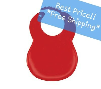 Bib Plastic Food Catcher RED or BLUE Preschool Daycare Quality Adjustable Neck
