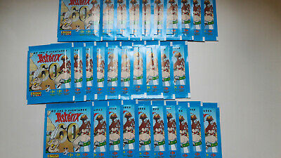 30 Pochettes Stickers Asterix Panini Carrefour 60 Ans D'aventures