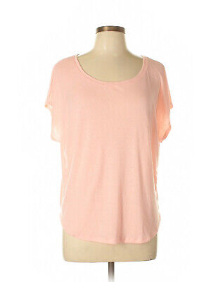 Old Navy Nubby Pale Pink Scoop neck T-shirt L Large