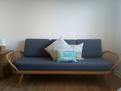 BEAUTIFUL ERCOL DAY BED/SOFA STUDIO COUCH CUSHIONS ONLY in Grey