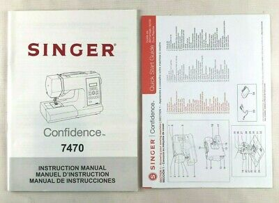 ORIGINAL Singer 7470 Sewing Machine/Embroidery/Serger Owners Manual Quick Start