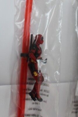 Deadpool 2 Slurpee 7-Eleven Set Of 3 Movie Promo Mini Figures on Straws