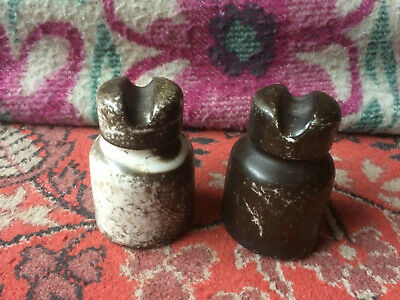 Vintage Soviet Electric Old Home Porcelain Insulators Set